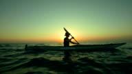 HD Super Slow-Mo: Kayaking At Sunset video