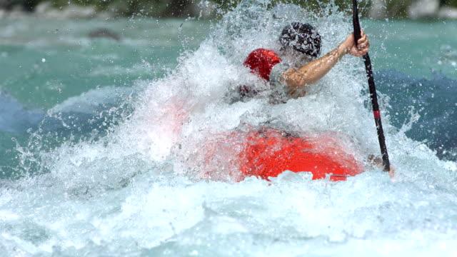 HD Super Slow-Mo: Kayaking Through Extreme Rapids video
