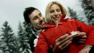 HD Super Slow-Mo: Loving Man Proposing A Woman video