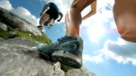 HD Super Slow-Mo: Mountain Running video