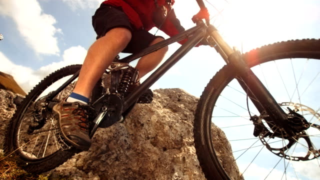 HD Super Slow-Mo: MTB Jumping On Extreme Mountain Trail video