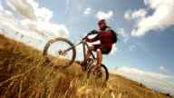 HD Super Slow-Mo: MTB Riding Wheelie In The Meadow video