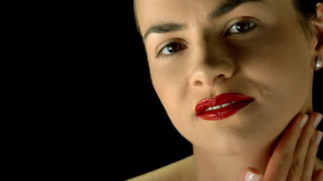 HD Super Slow-Mo: Portrait Of A Sensual Woman video