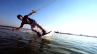 HD Super Slow-Mo: Portrait Of A Young Wakeboarder video
