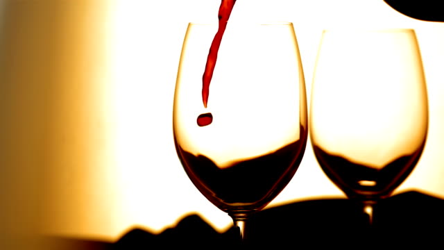 HD Super Slow-Mo: Pouring A Red Wine video