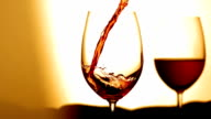 HD Super Slow-Mo: Pouring Wine Into Glass video