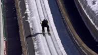 HD Super Slow-Mo: Professional Athlete Performing Ski Jump video