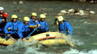HD Super Slow-Mo: Rafters Running The Rapids video