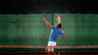 HD Super Slow-Mo: Serving The Ball On A Clay Court video