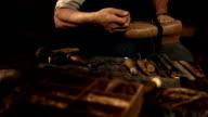 HD Super Slow-Mo: Shoemaker Stitching The Vamp video