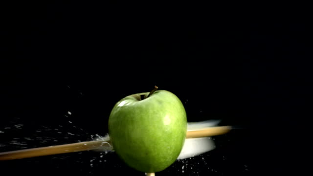 HD Super Slow-Mo: Shooting An Apple With Arrow video
