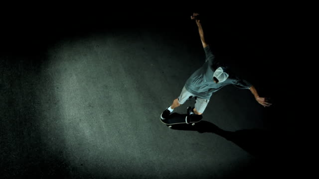 HD Super Slow-Mo: Skateboarder Doing Flip Trick video
