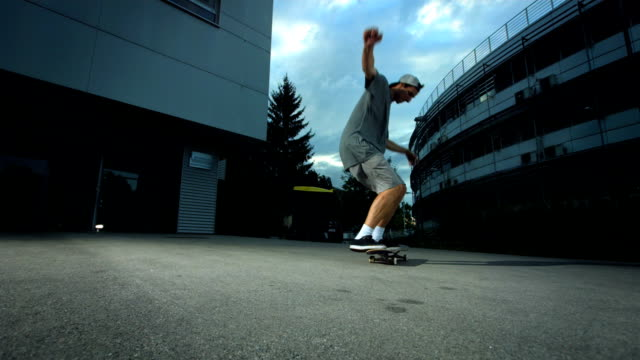 HD Super Slow-Mo: Skateboarder Performing Flip Trick video
