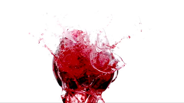 HD Super Slow-Mo: Smashing Wine Glasses video