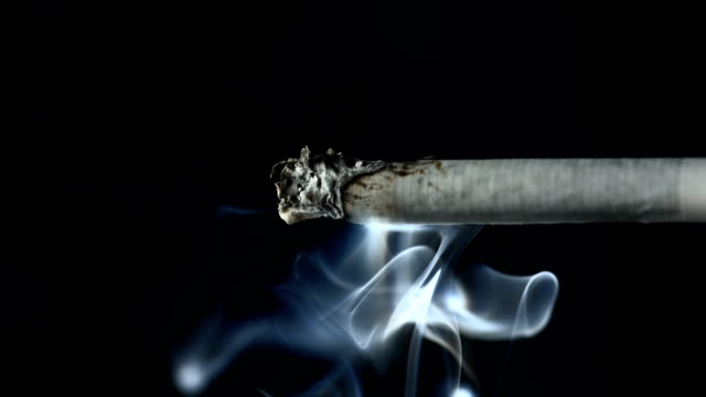 HD Super Slow-Mo: Smoke Coming From A Cigarette video