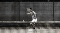 HD Super Slow-Mo: Tennis Player In Action video