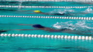 HD Super Slow-Mo: Two Young Women Swimming Butterfly Stroke Outdoors video