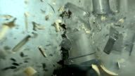 HD Super Slow-Mo: Vintage Electric Mixer Explosion video