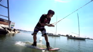 HD Super Slow-Mo: Wakeboard Start video