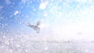 HD Super Slow-Mo: Wakeboarder Splashing Water At Camera video