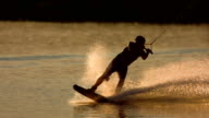 HD Super Slow-Mo: Wakeboarding At Sunset video