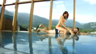 HD Super Slow-Mo: Woman Massaging Her Boyfriend video