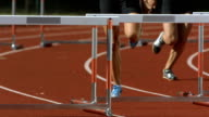 HD Super Slow-Mo: Women Sprinting The Hurdle Race video