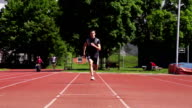 HD Super Slow-Mo: Young Man at Long Jump video