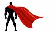 Superhero Back Isolated video