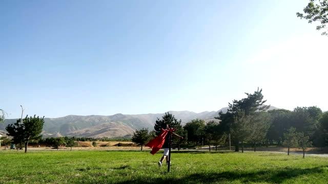 Superhero kid in red video