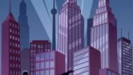 Superhero on Roof Loop video