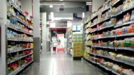 Supermarket section with products video