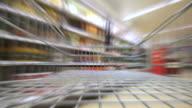 Supermarket shopping. 4k video