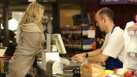 Supermarket / Store, grocery food shopping, Checkout Cashier, Cash register video