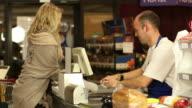 Supermarket / Store shopping checkout Cashier video