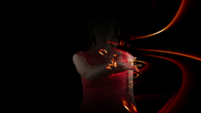 Supernatural Woman With 3D Effects video