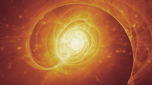 Supernova, Big Bang, Enlightenment - hot spiral animated fractal background video