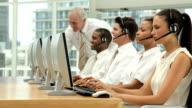 Supervisor Managing a Call Center Team video