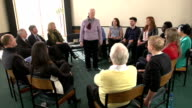 Support Therapy Group Circle - Lady shares with other people video