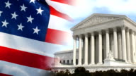 US Supreme Court and American Flag video