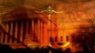 US Supreme Court, Constitution & Scales of Justice video