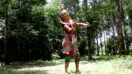 Supreme thai mask or Khon dance drama thai style. video