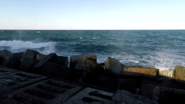 Surf and Rainbow at the Breakwater video