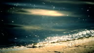 Surf with blue water glittering in sun video