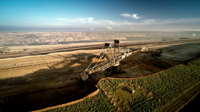 AERIAL : Surface Mine video