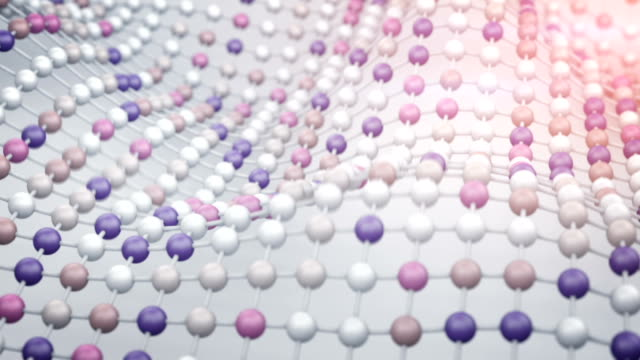 Surface of colorful balls. 3D render animation loopable video