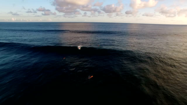 Surfer failing to paddle in and having a wipeout video