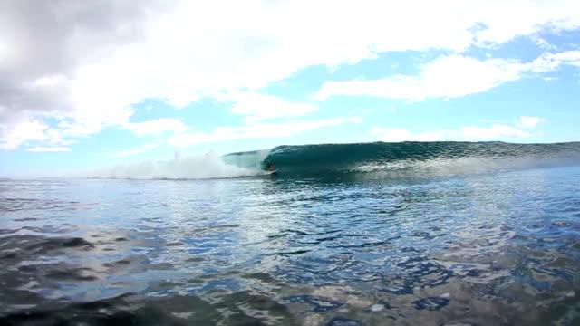 Surfer Gets Amazing Barrel Ride Water Shot (Slow Motion) video