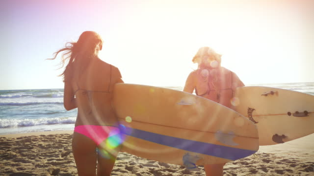 Surfer girls at sea video