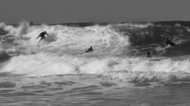 Surfer in Black and White video